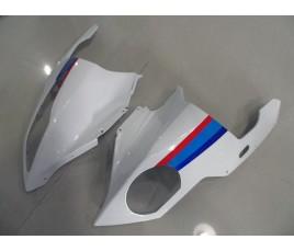 Carena in ABS per BMW S 1000 RR Bianco rosso e blu Motorrad