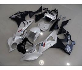 Carena in ABS per BMW S 1000 RR bianco e nero opaco