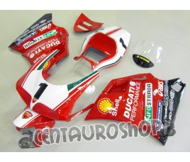 Set di carene in ABS Ducati 748 916 996 998 replica SBK Fogarty Infostrada