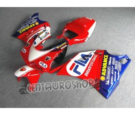 Set di carene in ABS Ducati 748 916 996 998 replica FILA Superbike