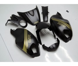 Carena in ABS Ducati Monster 696 796 1100 1100S nero opaco e oro