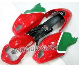 Carena in ABS Ducati Monster 696 796 1100 1100S tricolor bianco rosso e verde