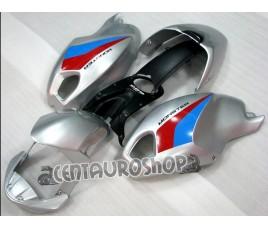Carena in ABS Ducati Monster 696 796 1100 1100S argento rosso e blu