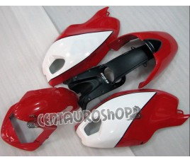 Carena in ABS Ducati Monster 696 796 1100 1100S bianca e rossa