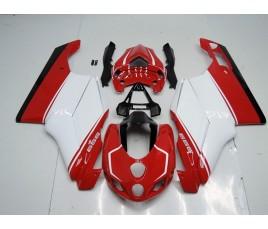 Carene in ABS Ducati 749 999 rosso e bianco schema 2