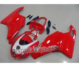 Carena in ABS Ducati 749 999 Rosso con portanumero
