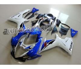 Carena ABS Suzuki GSX-R 600 e 750 2011 bianca e blu