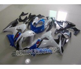 Carena in ABS Suzuki GSX-R 1000 09 13 tricolor bianco nero e blu