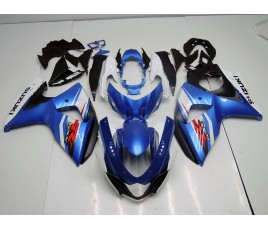 Carena in ABS Suzuki GSX-R 1000 09 13 metal blue + white