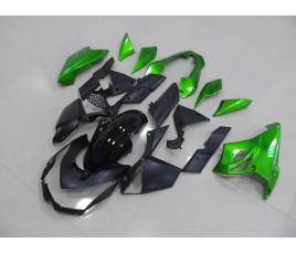Carene nero e verde per Kawasaki Z1000 2010 2013