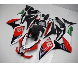 Carena in ABS per Aprilia RSV4 Classic tricolor su base nera