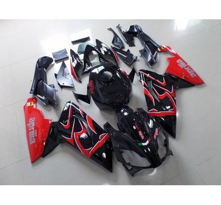 Carena per Aprilia RS 125 in abs nera e rossa