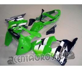 Carenatura in ABS Kawasaki ZX-6R Ninja 600 2000 2002 Green classic
