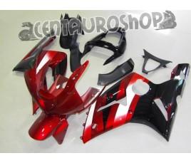 Carenatura in ABS Kawasaki ZX-6R Ninja 636 03-04 Flaming Red & Black
