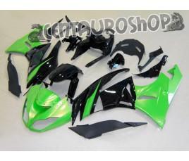 Carenature replica Kawasaki ZX6R Ninja 636 09-10 Green & Black