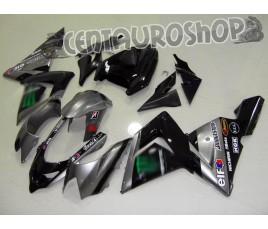 Carena in ABS Kawasaki ZX-10R Ninja 04-05 Titanium Black Moto Gp replica