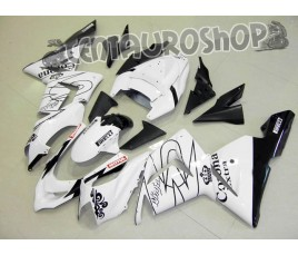 Carena in ABS Kawasaki ZX-10R Ninja 04-05 White Corona