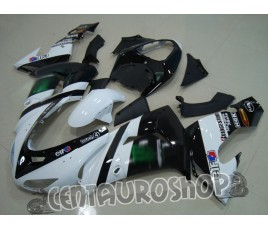 Carena in ABS Kawasaki ZX-10R Ninja 06-07 White motogp