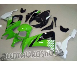 Carena in ABS Kawasaki ZX-10R Ninja 08-10 Lime Black & White
