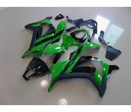Carena in ABS Kawasaki ZX-10R Ninja 11-13 green and black 2