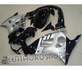 Carene per Honda CBR 600 F2 95-96 in abs colorazione Black & Silver