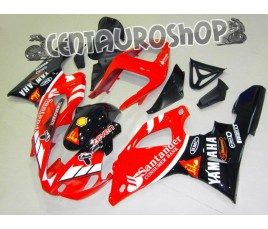 Carena in ABS Yamaha YZF 1000 R1 00-01 colorazione CLASSIC RED & WHITE
