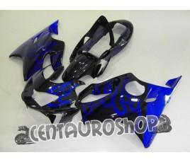 Carena in ABS Honda CBR 600 F4 99-00 black & blue flames