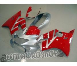 Carena in ABS per Honda CBR 600 F4 99-00 rosso e argento