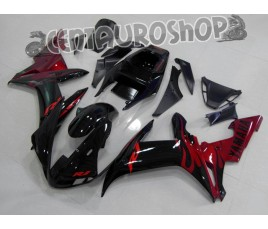 Carena in ABS Yamaha YZF 1000 R1 02-03 colorazione RED WHITE & BLACK