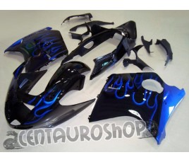 Carena in ABS Honda CBR 1100 XX 97-02 colorazione Blue Flames