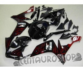 Carena in ABS Yamaha YZF 1000 R1 07-08 colorazione BLACK & RED