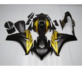 Carena in ABS Honda CBR1000RR 08 09 nero opaco e oro