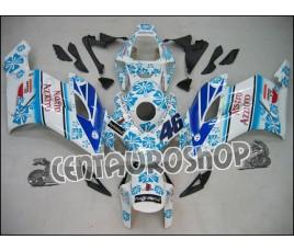 Carena in ABS Honda CBR 1000 RR 04-05 colorazione Nastro Azzurro White