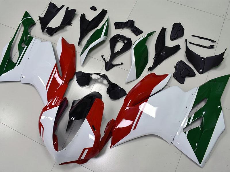 Carene per Ducati 959 e 1299 Panigale Tricolor in bianco