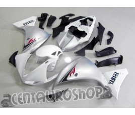 Carena in ABS Yamaha YZF 1000 R1 09-10 colorazione WHITE FLAMES ON BLUE