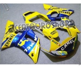 Carena in ABS Yamaha YZF 600 R6 99-02 colorazione ROSSI GO!