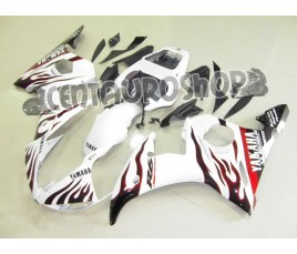 Carena in ABS Yamaha YZF 600 R6 04-05 colorazione SILVER
