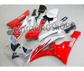 Carena in ABS Yamaha YZF 600 R6 06-07 colorazione RED & WHITE 1