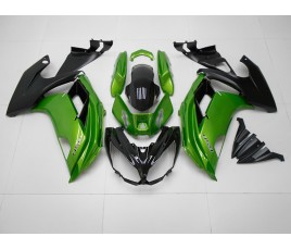 Carene ABS Kawasaki ER-6F 2012 2016 Green and Black