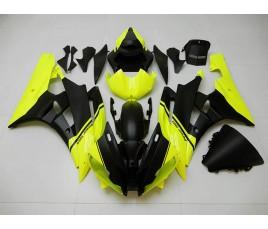 Carena ABS Yamaha YZF600 R6 2008 2016 personalizzata giallo fluo e nero