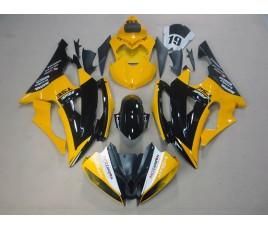 Carena ABS Yamaha YZF600 R6 2008 2016 personalizzata nero e giallo