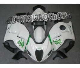Carena in ABS Suzuki GSX-R 1300 Hayabusa 99-07 colorazione WHITE & GREEN
