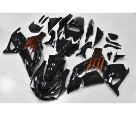 Carena in ABS Kawasaki ZX-14R Ninja 12-15 Black and Orange