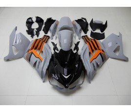Carena in ABS Kawasaki ZX-14R Ninja 12-15 Grey Orange & Black