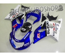 Carena in ABS Suzuki GSX-R 600 e 750 01-03 colorazione RED & WHITE