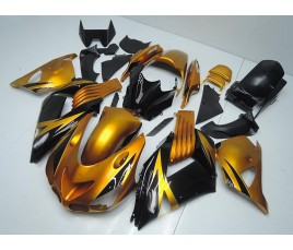 Carena in ABS Kawasaki ZX-14R Ninja 06 - 11 Black and Gold