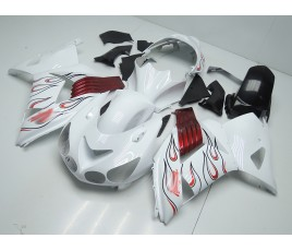 Carena in ABS Kawasaki ZX-14R Ninja 06 - 11 White Flames