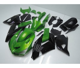 Carena in ABS Kawasaki ZX-14R Ninja 06 - 11 Green and Black