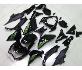 Carene Black & Green Kawasaki Z800 2013 2016