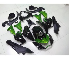 Carene Black & Lime Green Kawasaki Z800 2013 2016